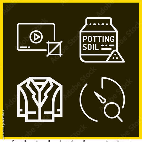 Photo Set of 4 till lineal icons