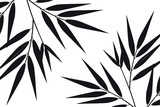 Bamboo leaf composition in design. Vector romantic landscape with bamboo trees on a white and gray background, and various attractive colors make an exclusive design
