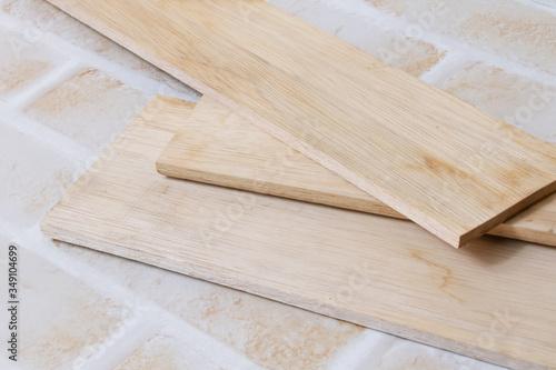 Fototapeta 木材、木、材木、木製、DIY、大工、日曜大工、修理、ボード、仕事、建築、切断 obraz na płótnie