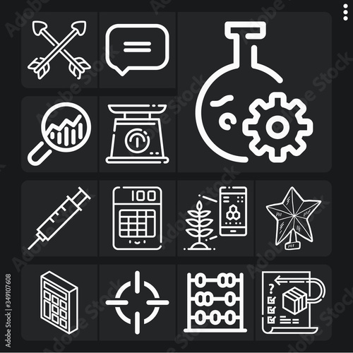 Set of 13 criticism lineal icons Fototapeta