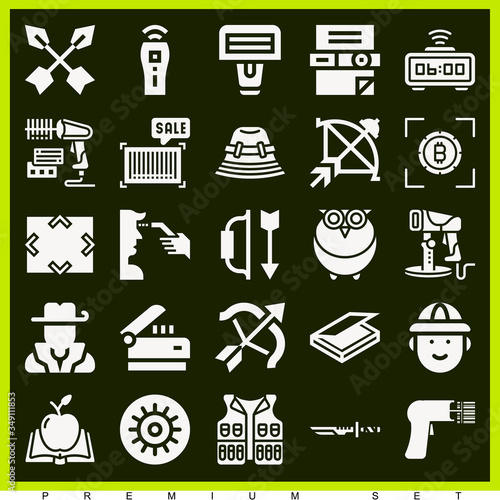 Photo Set of 25 hayes filled icons