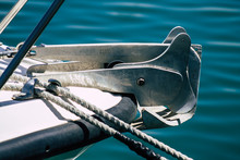Closeup Of A Boat Moored In Th...