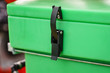 canvas print picture - Lock in green industrial big box