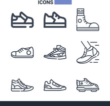 Collection Of 9 Sneaker Lineal...