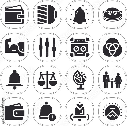 Dominant 16 filled icon set Canvas Print