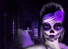 Sugar Skull 3d Woman In Crypt