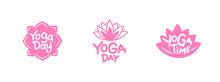 Set Of Yoga Day Graphics, Logo...