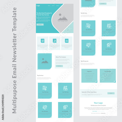 Fotografie, Tablou latest creative multipurpose business email newsletter template