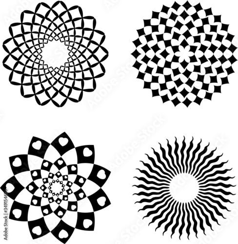 Set di simboli grafici, decorazione, pattern Canvas Print