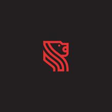 R Lion Logo. Lion Logo