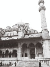 Low Angle View Of Yeni Cami Mosque Against Clear Sky