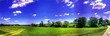 Leinwandbild Motiv Panoramic View Of Grassy Field Against Sky