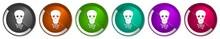 Hack Icon Set, Virus, Circuit,...