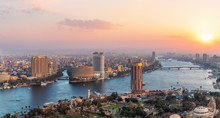 Sunset Over The NIle In Cairo ...