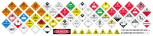 Vector Hazardous Material Sign...
