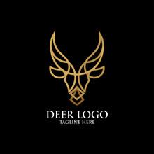 Deer Logo Icon Vector Isolated
