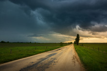 Dark Storm Clouds Over The Cou...