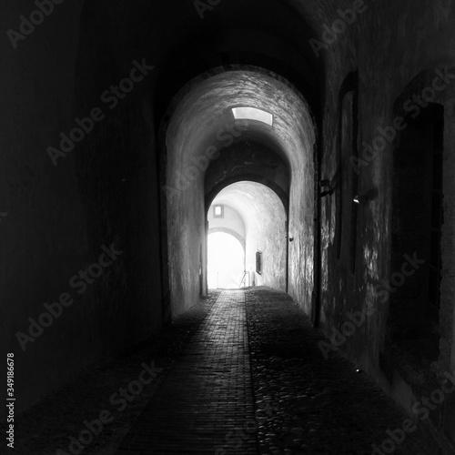 Slika na platnu Vanishing Archway Of Old Building