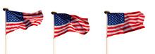 Three Flags Of The United Stat...