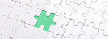 White Jigsaw Puzzle With With ...