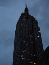 Low Angle View Of Empire State Building At Dusk