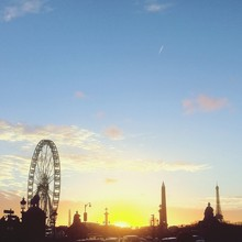 Silhouette Of Ferris Wheel And...