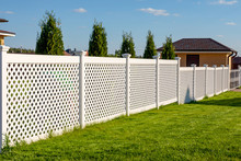 White Vinyl Fence In A Cottage...