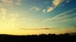 Leinwandbild Motiv Silhouette Landscape Against Cloudy Sky During Sunset
