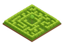 Garden Labyrinth Isometric Com...