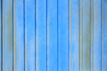 Background wall iron vertical profiled blue