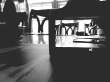 Camera On Table In Restaurant