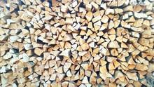 Full Frame Shot Of Woodpiles