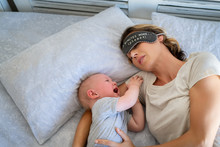 Baby Crying While Mother Sleeping