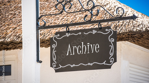 Street Sign to Archive Canvas Print