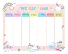 Children's Weekly Planner With...