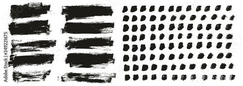 Flat Paint Brush Thin Short Background & Straight Lines Mix High Detail Abstract Fototapet