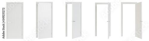 Interroom door isolated on white background Canvas Print