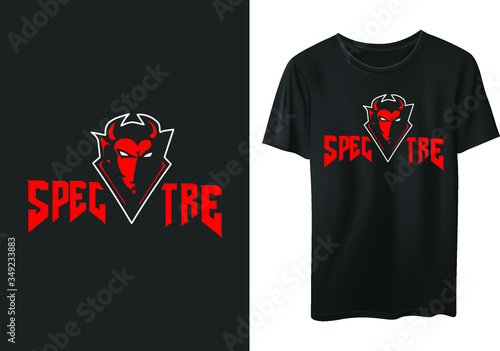 Photo spectre stylish t-shirt and apparel trendy design with typography, print, vector illustration