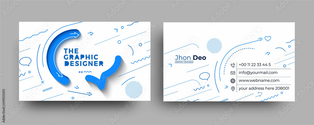 Obraz Modern Business Card - Creative and Clean Business Card Template. fototapeta, plakat