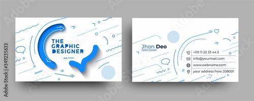 Fototapeta Modern Business Card - Creative and Clean Business Card Template. obraz