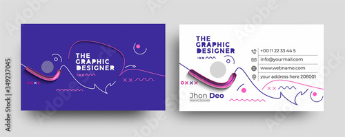 Cuadros en Lienzo Modern Business Card - Creative and Clean Business Card Template.