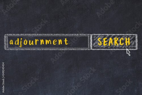 Chalk sketch of browser window with seqrch form and inscription adjournment Canvas Print