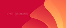 Abstract Red Background With G...