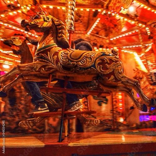 Valokuva Side View Of Merry-go-round
