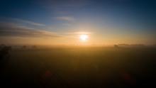 Sunrise Over Farmland, Norfolk, UK