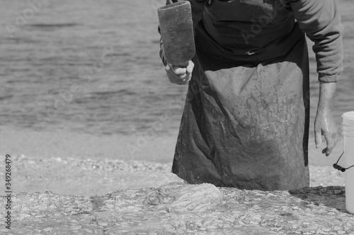 Photo Polpo con pescatore