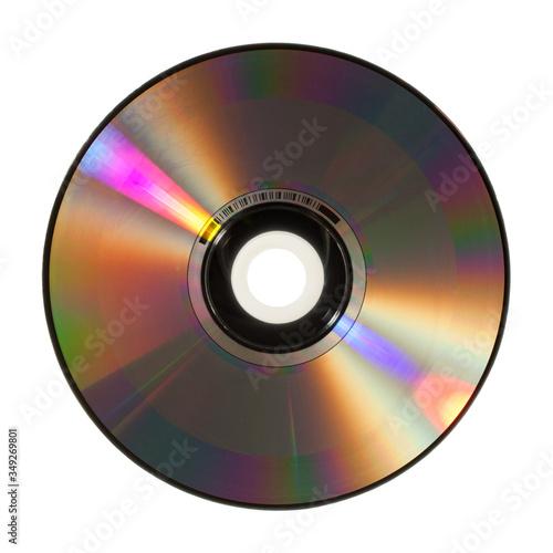 Obraz Płyta CD, DVD, tył, na białym tle. - fototapety do salonu