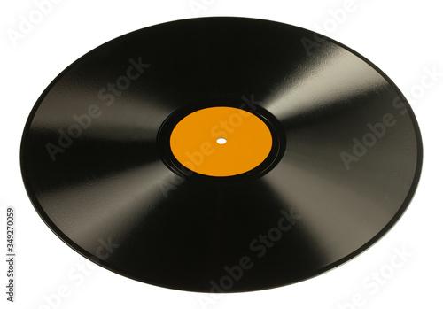 Fotografia Płyta szelakowa, prekursorka płyty winylowej, 78 rpm.