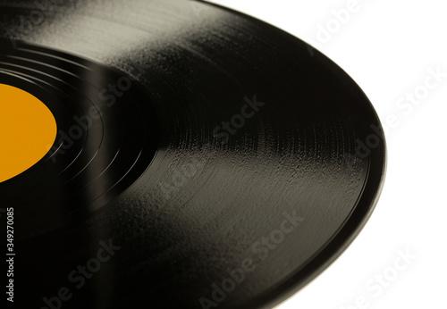 Płyta szelakowa, prekursorka płyty winylowej, 78 rpm. Obraz na płótnie