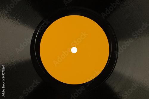 Fototapeta Płyta szelakowa, prekursorka płyty winylowej, 78 rpm, detal. obraz